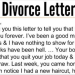 Best Divorce Letter Ever