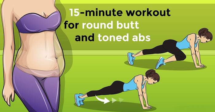 15-Minute-Workout-For-Round-Butt-and-Toned-Abs