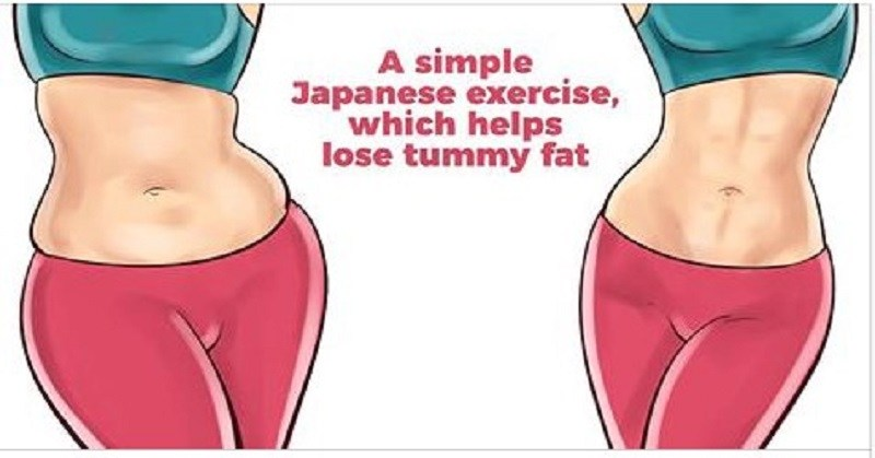 A Simple Japanese Move, Which Helps Lose Tummy Fat