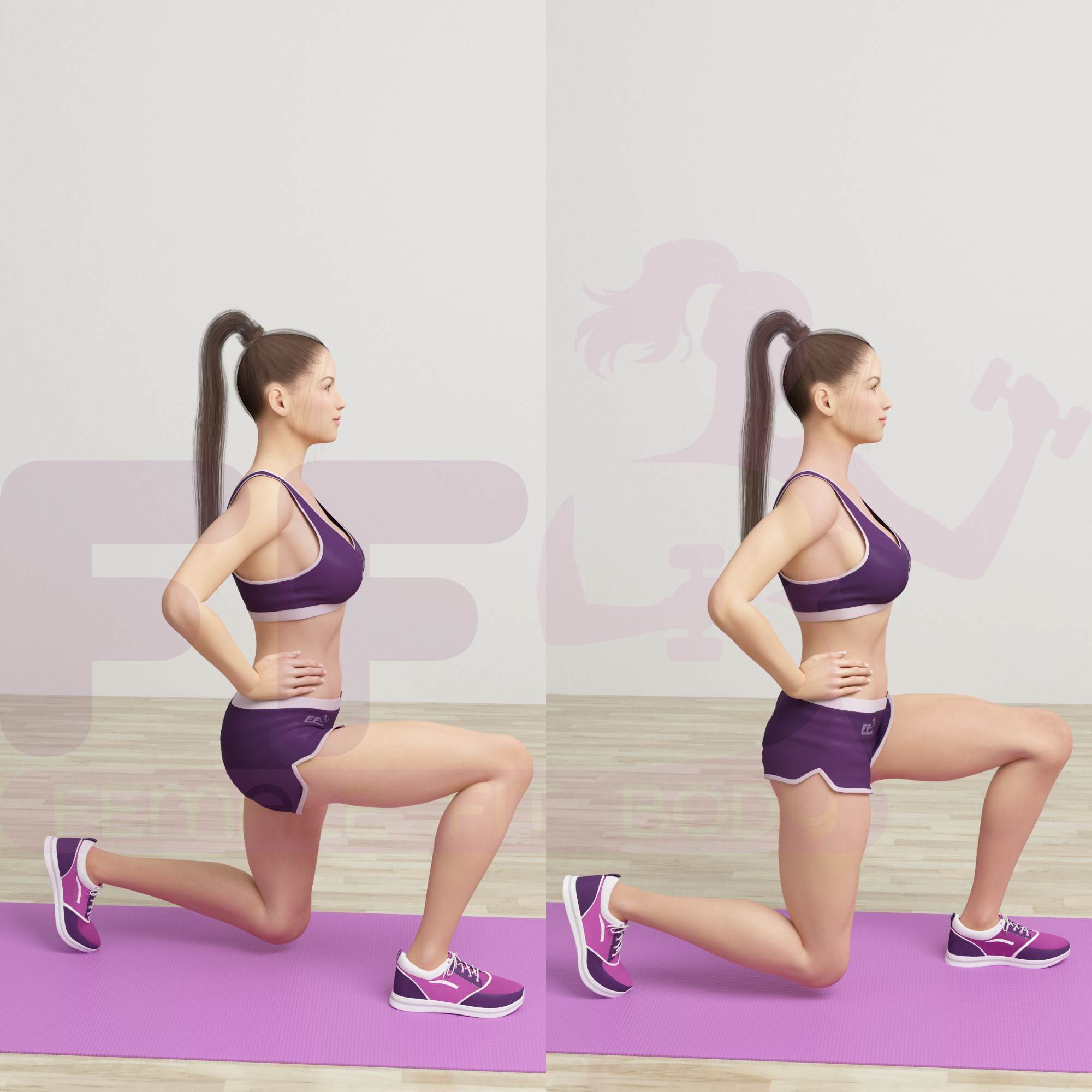 5.Lunges