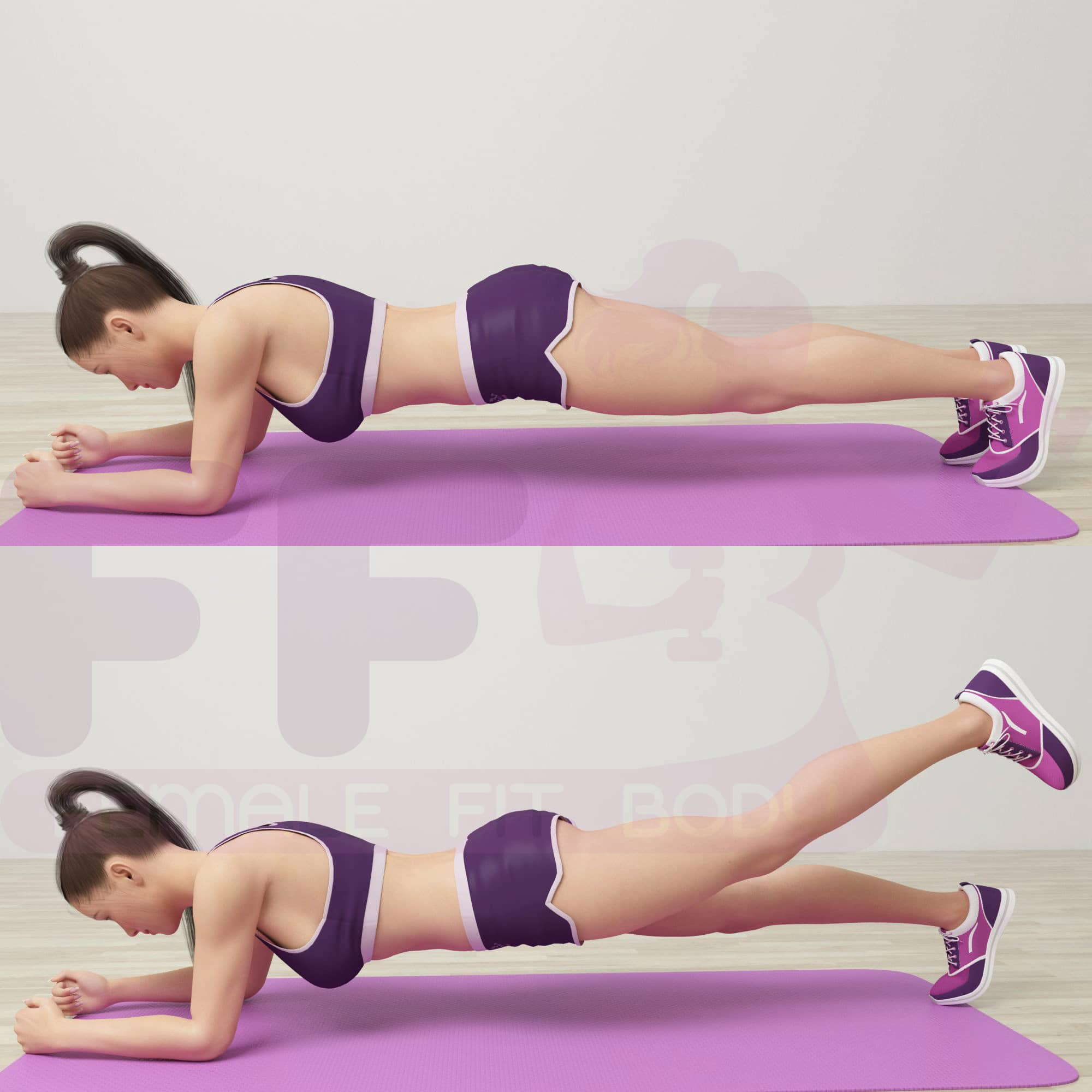 Reverse Plank with Leg Fit
