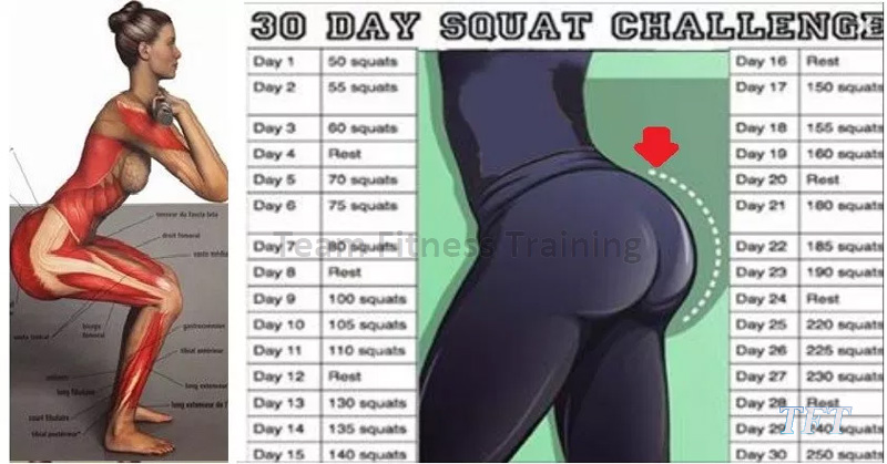 30-DAY SQUAT CHALLENGE FOR A BIGGER BEHIND