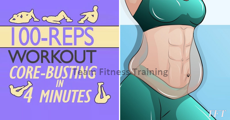 This 100-Rep, Core-Busting Workout Takes All of 4 Minutes to Complete