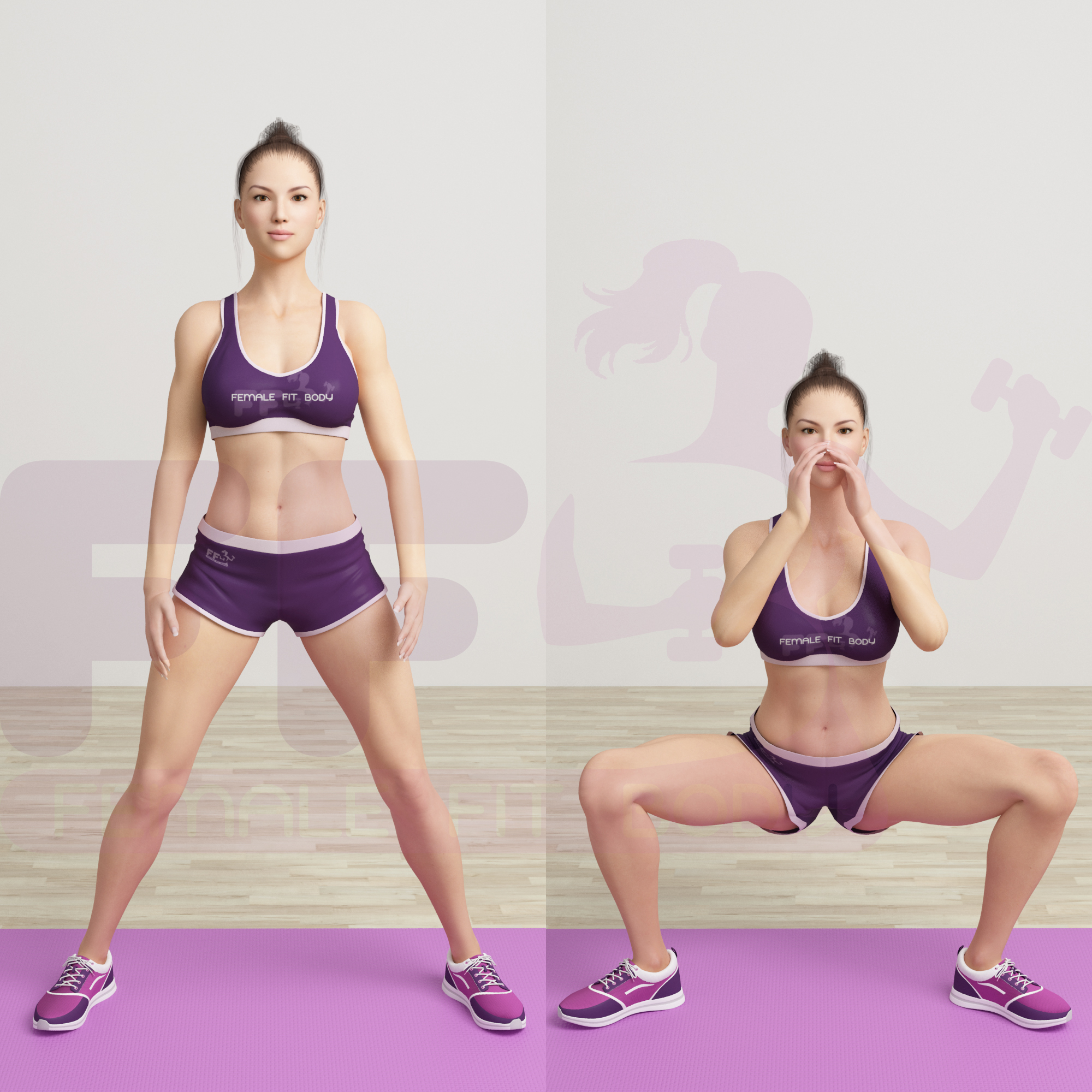 Sumo squats to calf raise