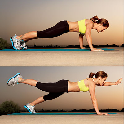Push Up Into Unstable Plank