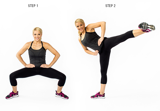 Squat to Side Kick