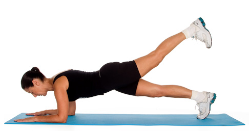 Plank with Leg Lift