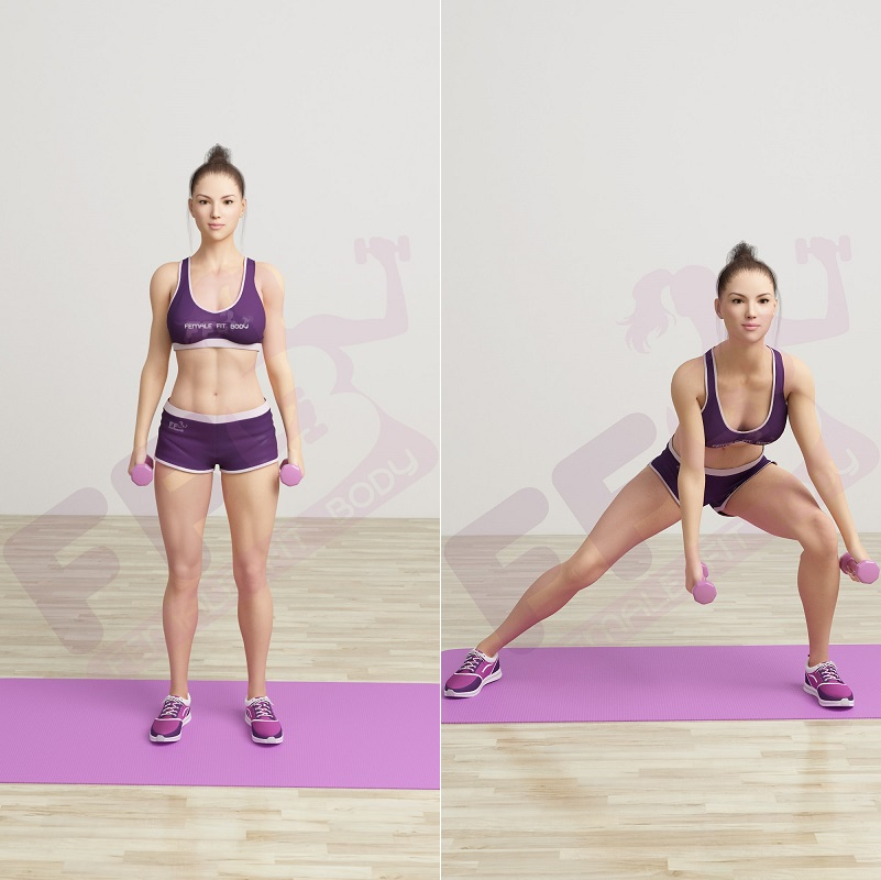 20 Side Lunges:
