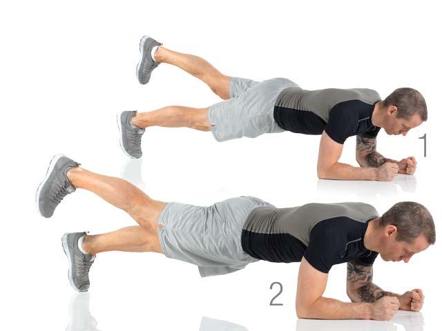 Front Bridge exercise (planks)