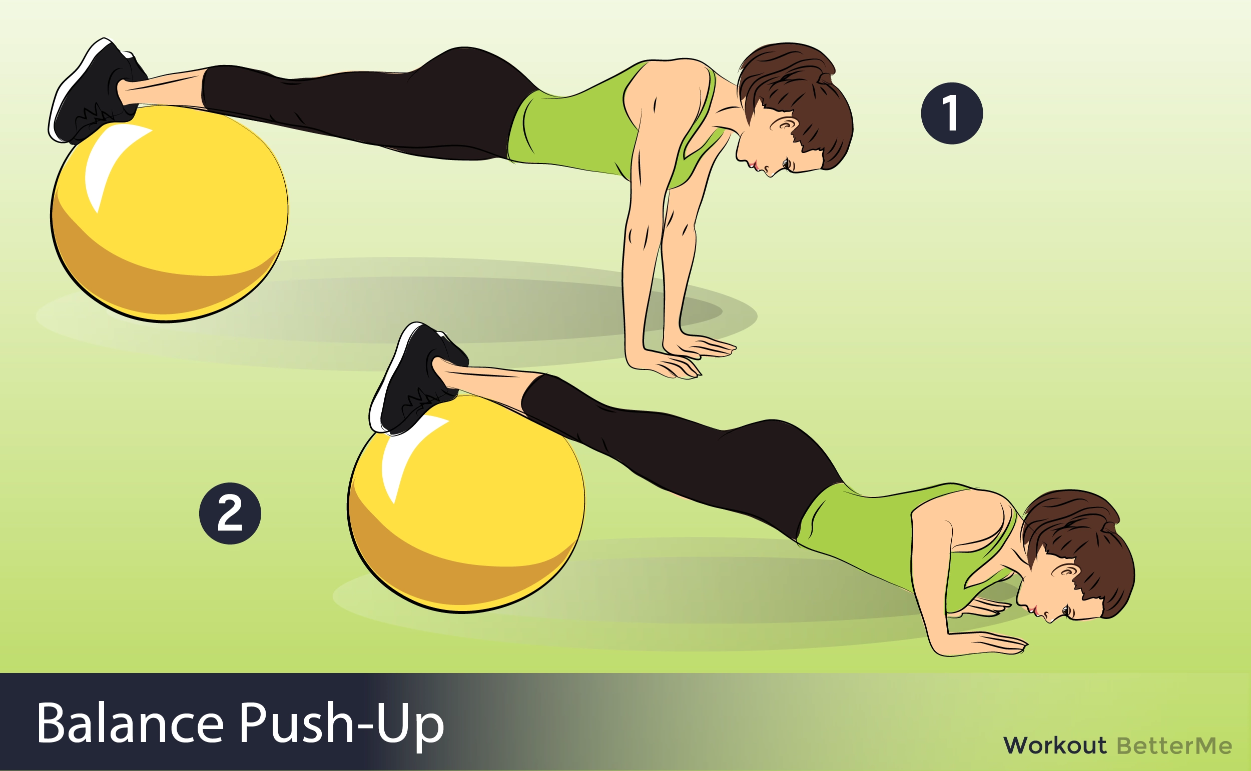 Swiss Ball Press-Up and Knee Tuck