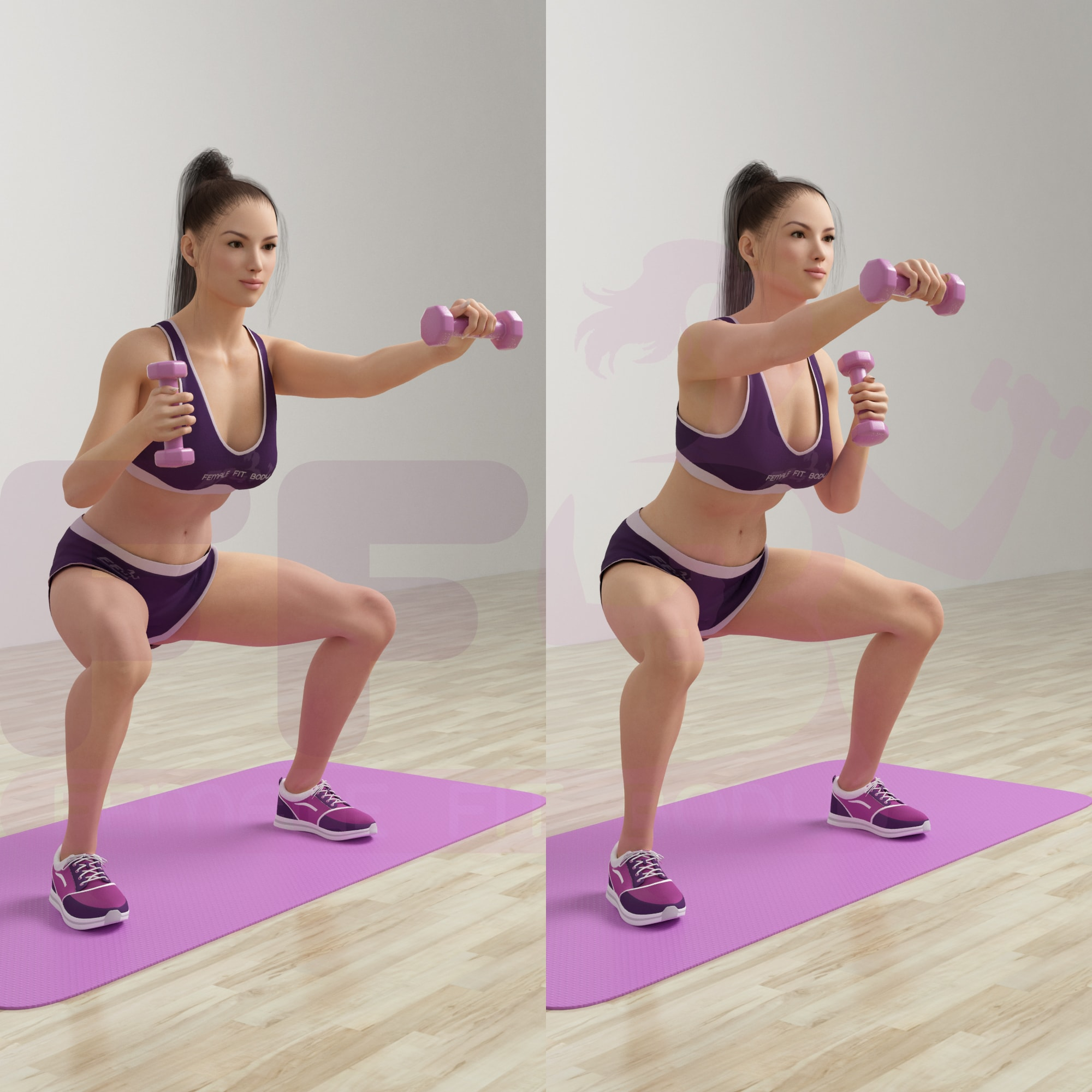 20-Second Squat Hold: